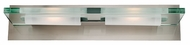 Access 62092-BS Vision 2-Light Clear Plate Glass Modern Vanity Light