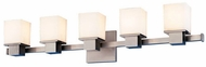 Hudson Valley 4445 Milford 5 Light Contemporary Halogen Vanity Fixture