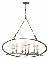 Troy F3447 Drift Bronze Finish 44 Inch Wide 7 Lamp Manila Rope Suspended Island Lighting