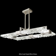 Fine Art Lamps 819240 Crystal Bakehouse Contemporary Rectangular 50 Inch Wide Island Lighting Pendant