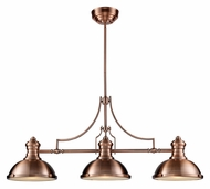 ELK 66145-3 Chadwick 47 Inch Long Antique Copper Finish Kitchen Island Lighting