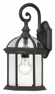 Nuvo 604963 Boxwood 15 Inch Tall Traditional Textured Black Outdoor Sconce - Small