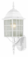 Nuvo 604901 Adams Lower Mounting 18 Inch Tall White Exterior Wall Lamp