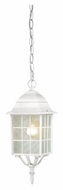 Nuvo 604911 Adams Traditional 15 Inch Tall White Exterior Pendant Lighting Fixture
