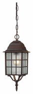 Nuvo 604912 Adams Outdoor Rustic Bronze Finish 15 Inch Tall Hanging Lamp