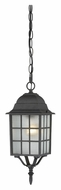 Nuvo 604913 Adams Textured Black Finish Traditional 15 Inch Tall Exterior Pendant Light