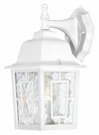 Nuvo 604921 Banyon Water Glass 12 Inch Tall Traditional White Outdoor Wall Light