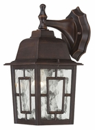 Nuvo 604922 Banyon Outdoor Rustic Bronze Finish Traditional Lamp Sconce - Water Glass