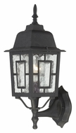Nuvo 604926 Banyon Water Glass Traditional Textured Black Outdoor Sconce