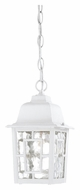 Nuvo 604931 Banyon 6 Inch Diameter White Finish Traditional Outdoor Drop Lighting