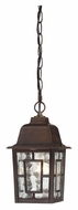 Nuvo 604932 Banyon Traditional Style 10 Inch Tall Rustic Bronze Exterior Pendant Lamp