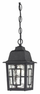 Nuvo 604933 Banyon Outdoor Textured Black 10 Inch Tall Drop Ceiling Light Fixture