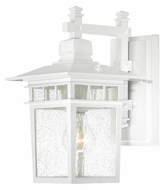 Nuvo 604951 Cove Neck White 11 Inch Tall Traditional Exterior Sconce