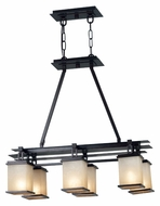 Kenroy Home 90386ORB Plateau 6 Lamp Oil Rubbed Bronze 30 Inch Wide Island Lighting