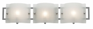 Access 53313-BS-FR Nara 3-Light Modern Vanity Light with Acid Frost Checkered Glass
