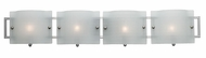Access 53314-BS-FR Nara 4-Light Modern Vanity Light with Acid Frost Checkered Glass