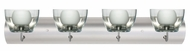 Lexi Glass 4-Light Modern Bathroom Light Fixture