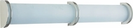PLC 1003-SN Chevron 36 inch Contemporary Cylindrical Vanity Light in Satin Nickel