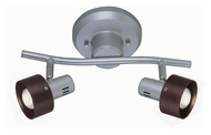 Lite Source LS16092 Duccio 2 Lamp 15 Inch Wide Silver Finish Monorail Lighting Kit