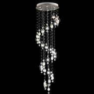Lite Source LSEL-10076 Bubbles Crystal Ring White Frosted Bubble Hanging Ceiling Light Fixture