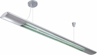 Lite Source LS19692 Bellini Silver Fluorescent Pendant Ceiling Lamp