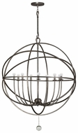 Crystorama 9229 Solaris Extra Large 9 Light Modern Chandelier In 3 Finishes