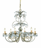 Crystorama 4926-SL Victoria 28 inch Swarovski crystal chandelier in silver leaf finish