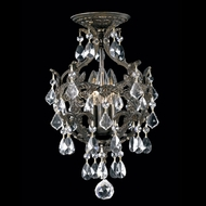 Crystorama 5193-EB-CL-MWP Legacy 10 inch crystal mini chandelier in English bronze finish