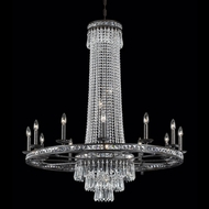 Crystorama 5269-EB-CL-MWP Mercer 43 inch crystal chandelier in English bronze finish