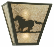 Meyda Tiffany 112771 Wild Horse Left 12 Inch Tall Rustic Style Wall Sconce Light