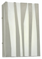 Meyda Tiffany 114398 Boberick Modern 15 Inch Tall LED Old Silver Wall Light