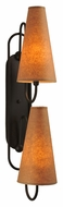 Meyda Tiffany 114678 Clef 29 Inch Tall 2 Lamp Oil Rubbed Bronze Wall Sconce Light