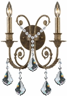 Crystorama 5112-MWP-CL Flight 12 1/2 inch 2-lite wall sconce in English Bronze
