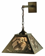 Meyda Tiffany 110134 Ruffed Grouse Antique Copper Finish 15 Inch Wide Hanging Wall Lamp