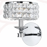 Crystorama 801-CH-CL-MWP Chelsea 7.5 inch wall sconce in chrome