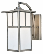 Meyda Tiffany 111123 Hyde Park T Mission Curved Arm Antique Nickel 14 Inch Tall Wall Light Fixture