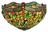 Meyda Tiffany 112136 Tiffany Hanginghead Dragonfly 17 Inch Wide 2 Lamp Lamp Sconce
