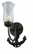 Meyda Tiffany 109538 Anchor 12 Inch Tall Wrought Iron Lamp Sconce