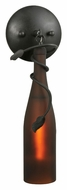 Meyda Tiffany 104484 Tuscan Vineyard Frosted Amber Wine Bottle Modern Wall Lighting Fixture