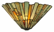 Meyda Tiffany 106732 Jadestone Delta 13 Inch Wide Tiffany Art Glass Pocket Wall Sconce