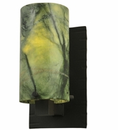 Meyda Tiffany 122140 Cilindro 8 Inch Tall Jadestone Wall Lighting Sconce