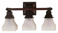 Meyda Tiffany 26310 Bungalow 3 Lamp 18 Inch Wide Wall Light Sconce - Transitional