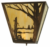 Meyda Tiffany 133143 Quiet Pond Copper Finish 13 Inch Wide Lighting Sconce - Right