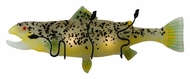 Meyda Tiffany 132287 Brown Trout 29 Inch Wide Fused Glass Novelty Wall Light Fixture