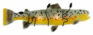 Meyda Tiffany 132288 Brown Trout Fused Glass 11 Inch Tall Novelty Sconce Lighting