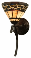 Meyda Tiffany 125109 Ilona 18 Inch Tall Tiffany Wall Sconce Lighting