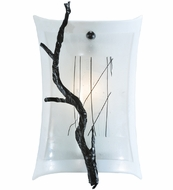 Meyda Tiffany 108602 Twigs Fused Glass Rustic Wall Sconce