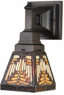 Meyda Tiffany 66524 Navajo Mission Tiffany 1 Bulb Reversible Sconce Wall Lighting Fixture