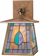 Meyda Tiffany 50524 Mackintosh Leaf 1 Bulb Tiffany Lantern Wall Sconce Lighting Fixture