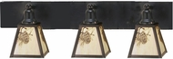 Meyda Tiffany 52459 Craftsman 3 Light Vanity Wall Lighting Fixture